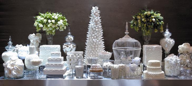 White buffet